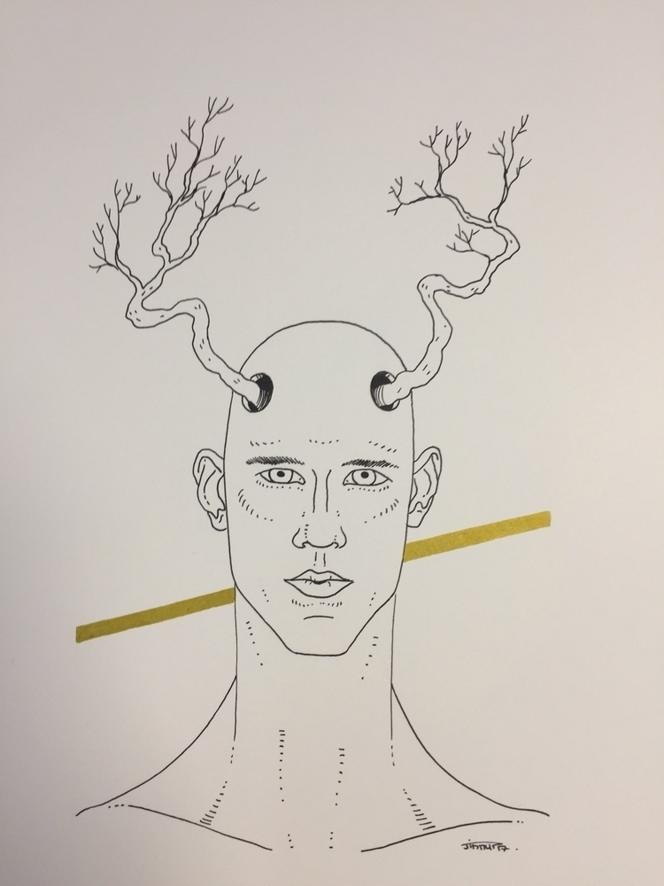 arbre / tree man - illustration - jimmy-draws | ello