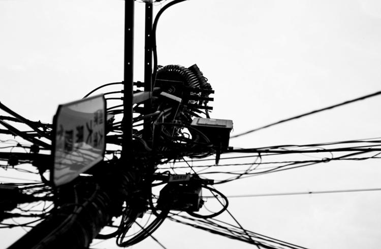 tokyo, wires, bw, photography - walerija | ello