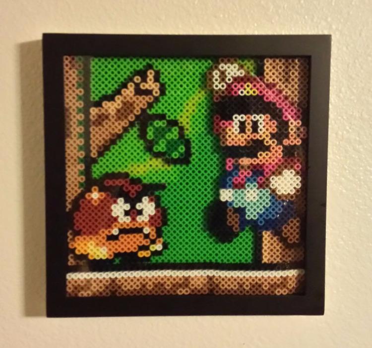 Mario World layered beadsprite - psycosulu | ello