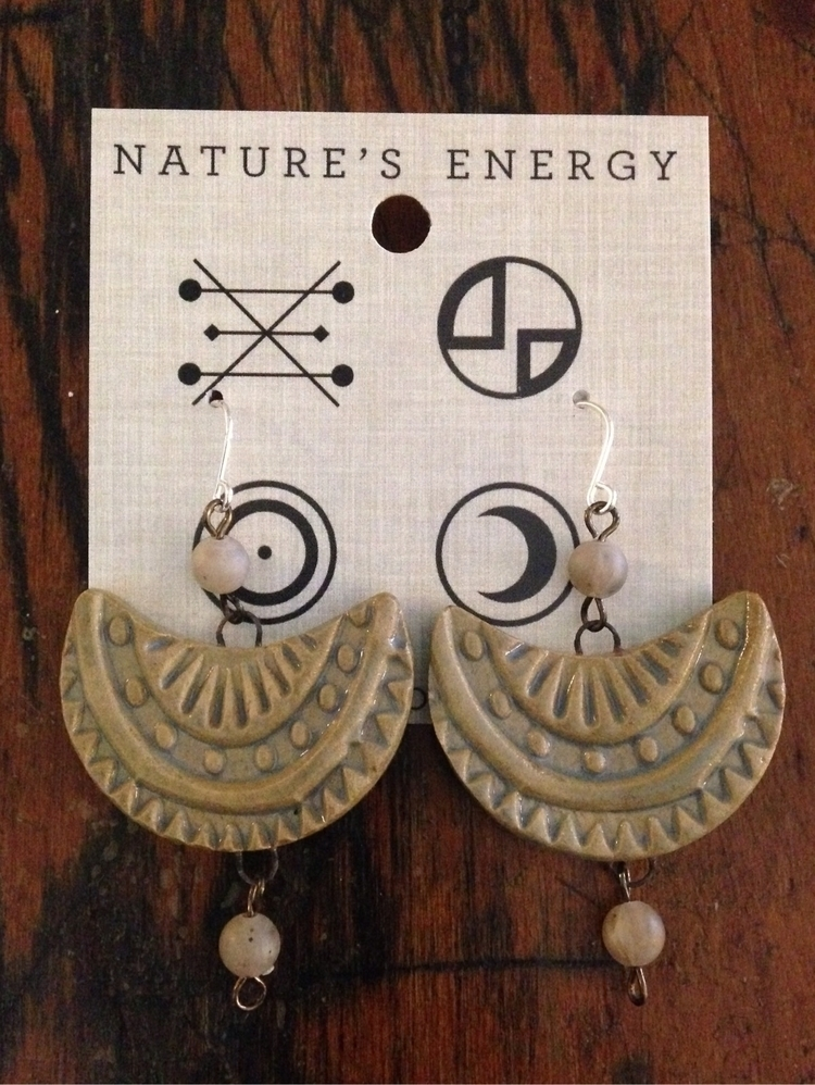 earring, handmade, clay, naturesenergy - lisaconfora | ello