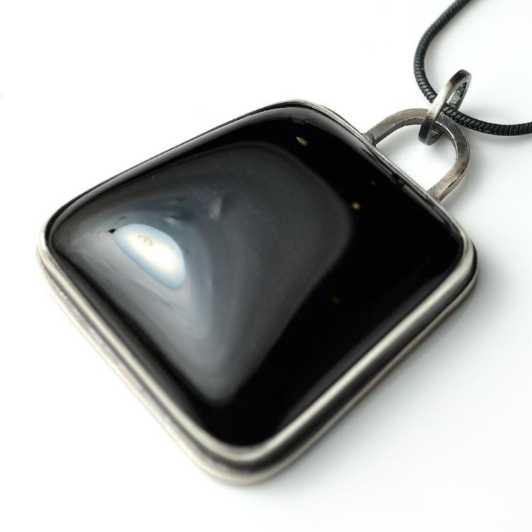 Black Obsidian Pendant Necklace - mineralrare | ello
