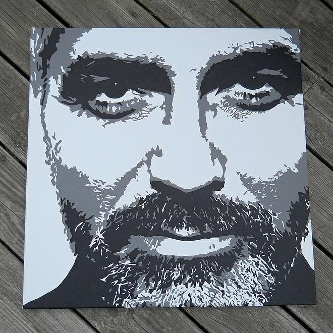 Clooney ☆ - acrylic, canvas, georgeclooney - initiallybad | ello