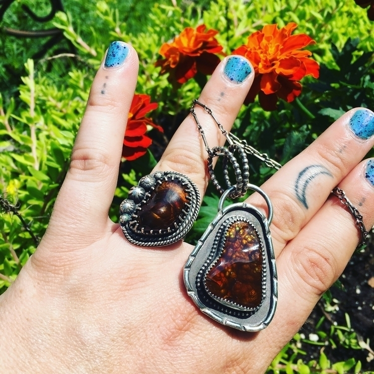 Fire Agate beauties shop. ring  - willowmetals | ello