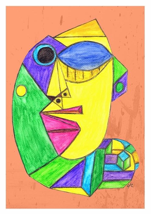 Born A4 Print - print, cubism, art - clramalhao | ello