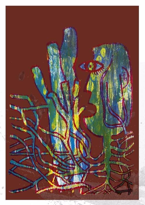 rise flames, A4 Print - print, cubism - clramalhao | ello