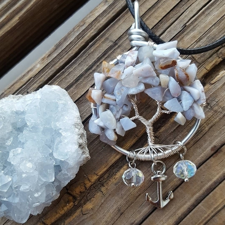 chalcedony tree life etsy page  - kays_kreationss | ello