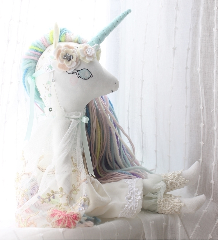 Ello - unicorn, handmadedoll, ellodollmakers - libertylavenderdolls | ello