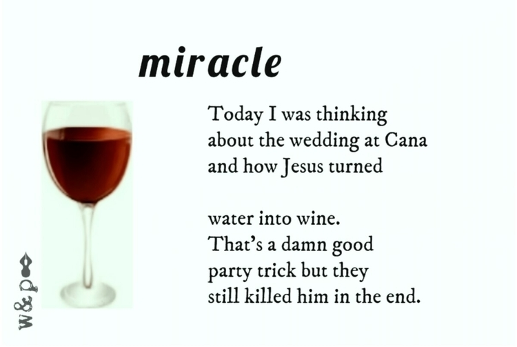 > MIRACLE Today thinking wed - whiskeyandpens | ello