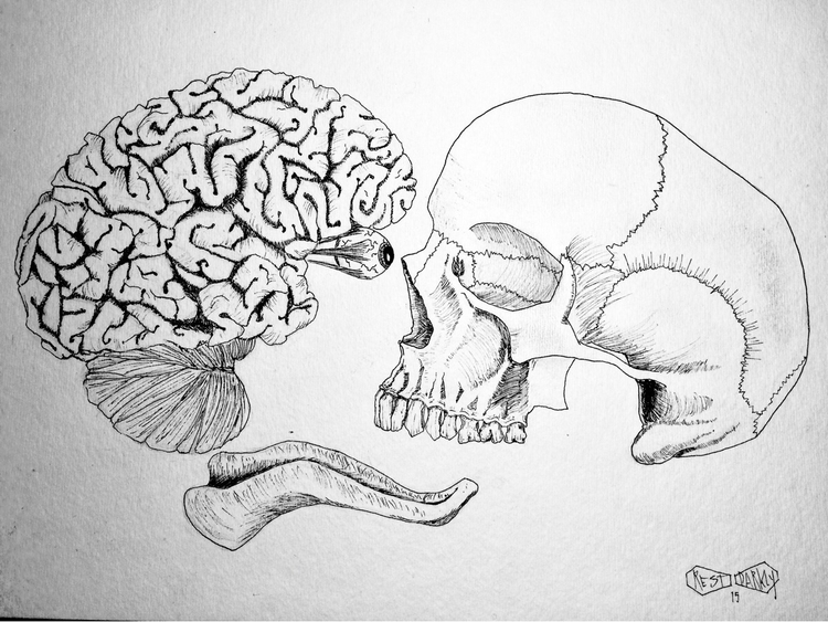 Brain Brawn - darkart, darkartist - jeffcollier | ello