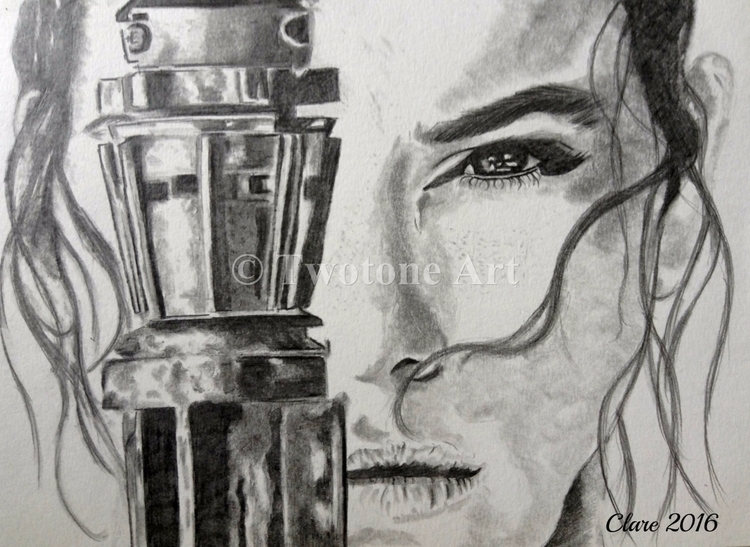 Rey Graphite Pencil A4 - starwars - twotoneart | ello