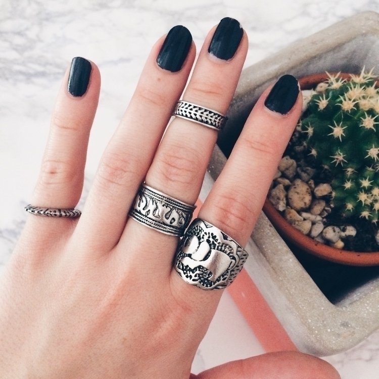 Bohemian Inspired Ring Set - boho - blackfelidae | ello