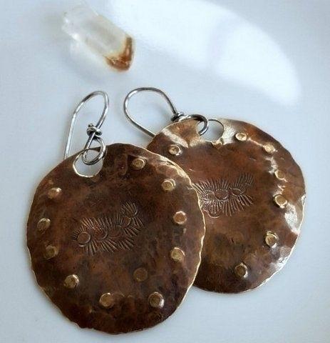 boho-chic earrings created bras - stormynitedesigns | ello