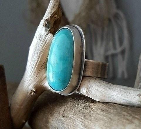 American kingman turquoise ring - stormynitedesigns | ello