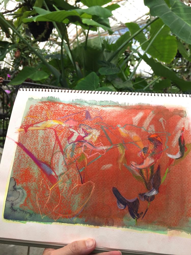 Watercolor pastel Conservatory  - melissamohammadi   ello