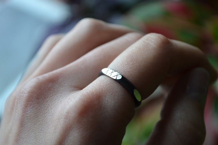 Custom Straight Edge ring custo - thecavelady | ello
