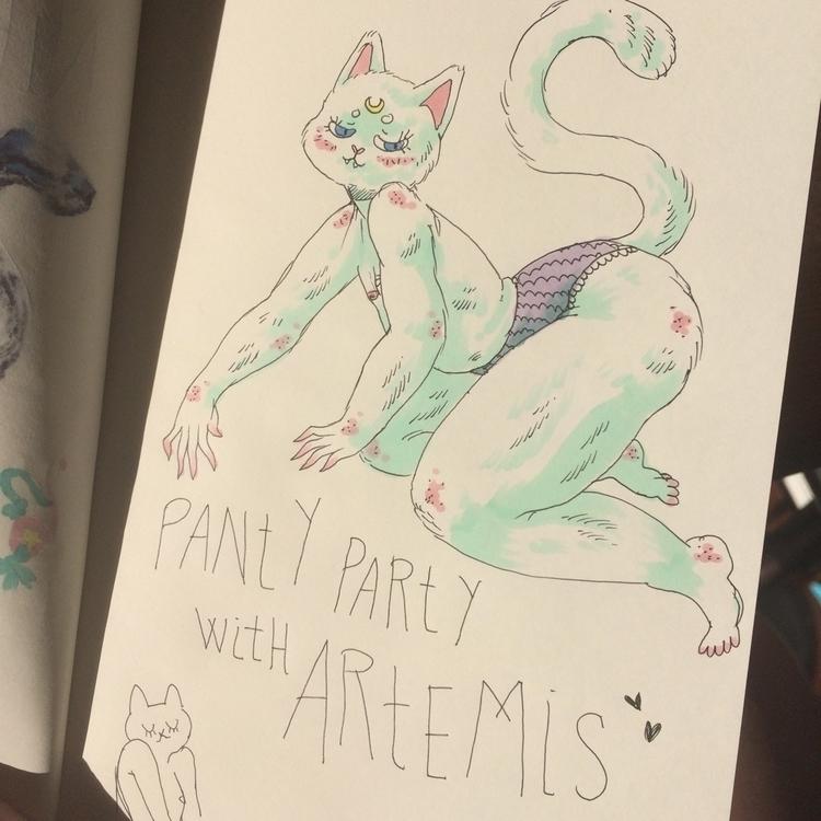 Panty Party Artemis  - cat, artemis - skeenep | ello