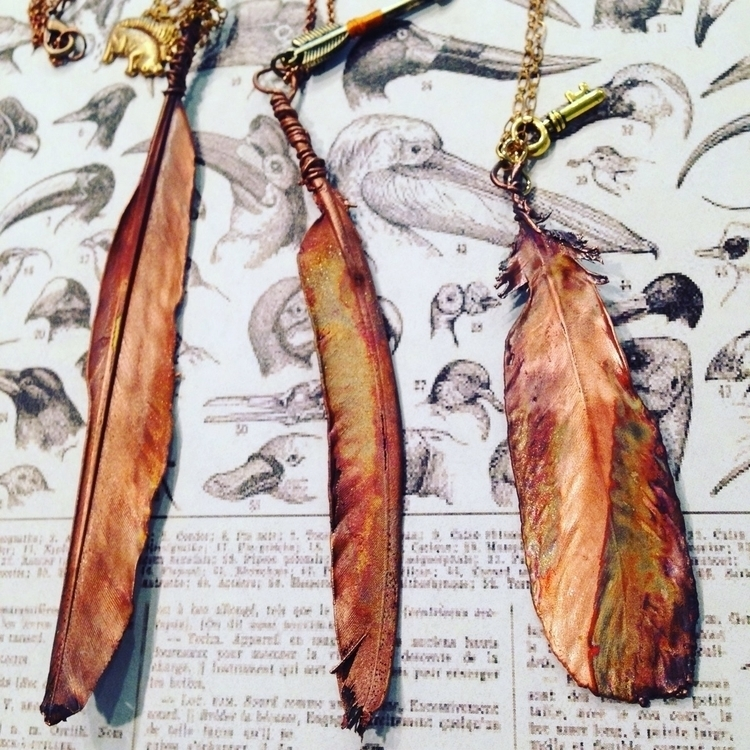 loves feather? copper feathers - mergingmetals | ello