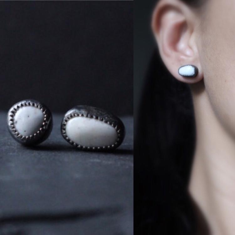 White Buffalo Turquoise Sterlin - gugmajewelry | ello