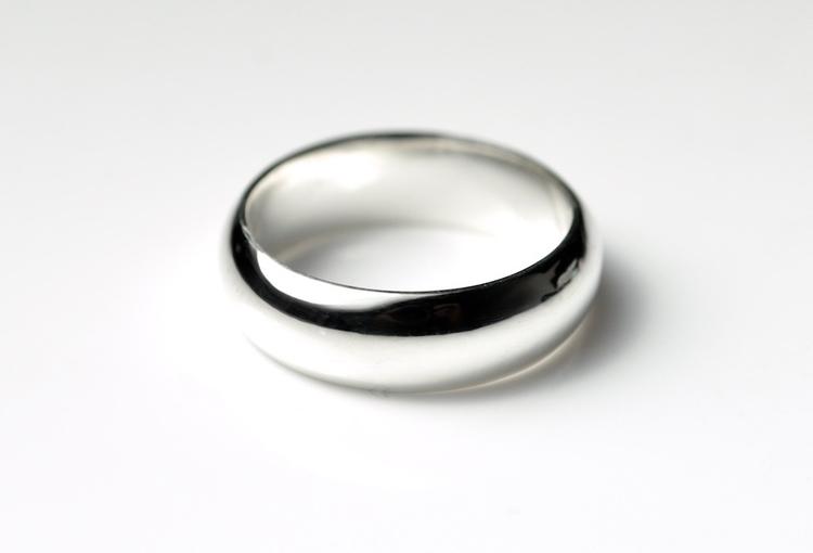 6mm Wide Silver Ring - panorama - mineralrare | ello