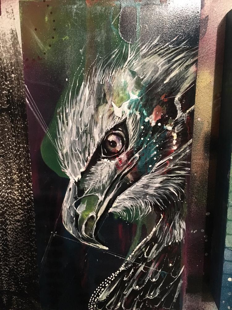 Eagle Eye 12x9 Acrylic Wood pan - ehrmanmax | ello