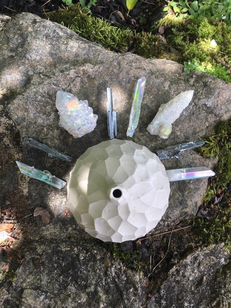 choosing crystals put piece  - PotteryByRosie - potterybyrosie | ello