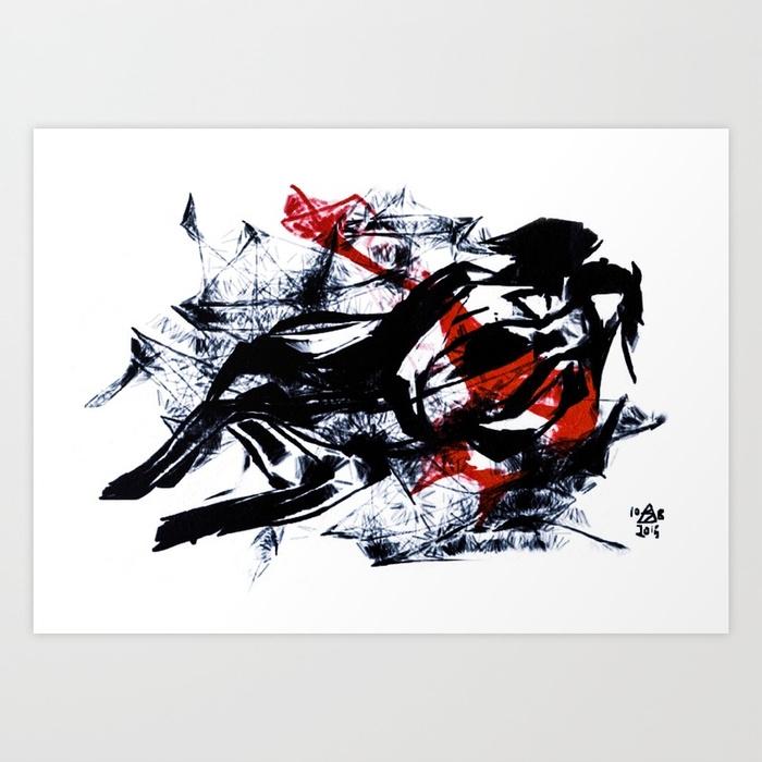 Illusion Art Print Sail Moon - dimsemi | ello