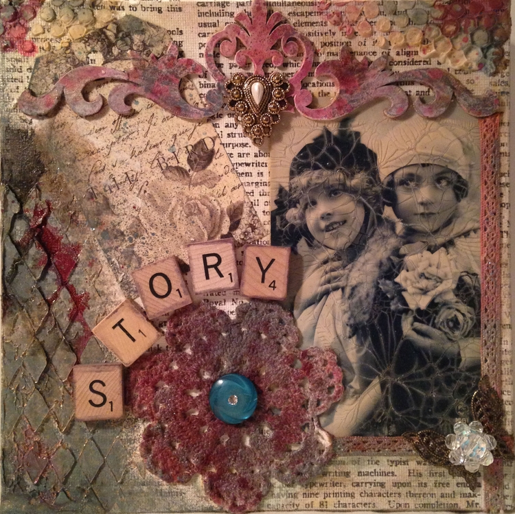 Story - mixed media collage, 20 - incarnations | ello