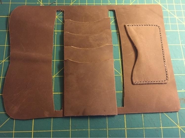 Wallet progress - leatherwork, leatherworking - twinflameleatherco   ello