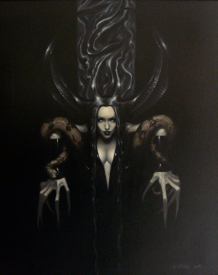 Serpent 14x18 Oil canvas - darkart - danharding | ello