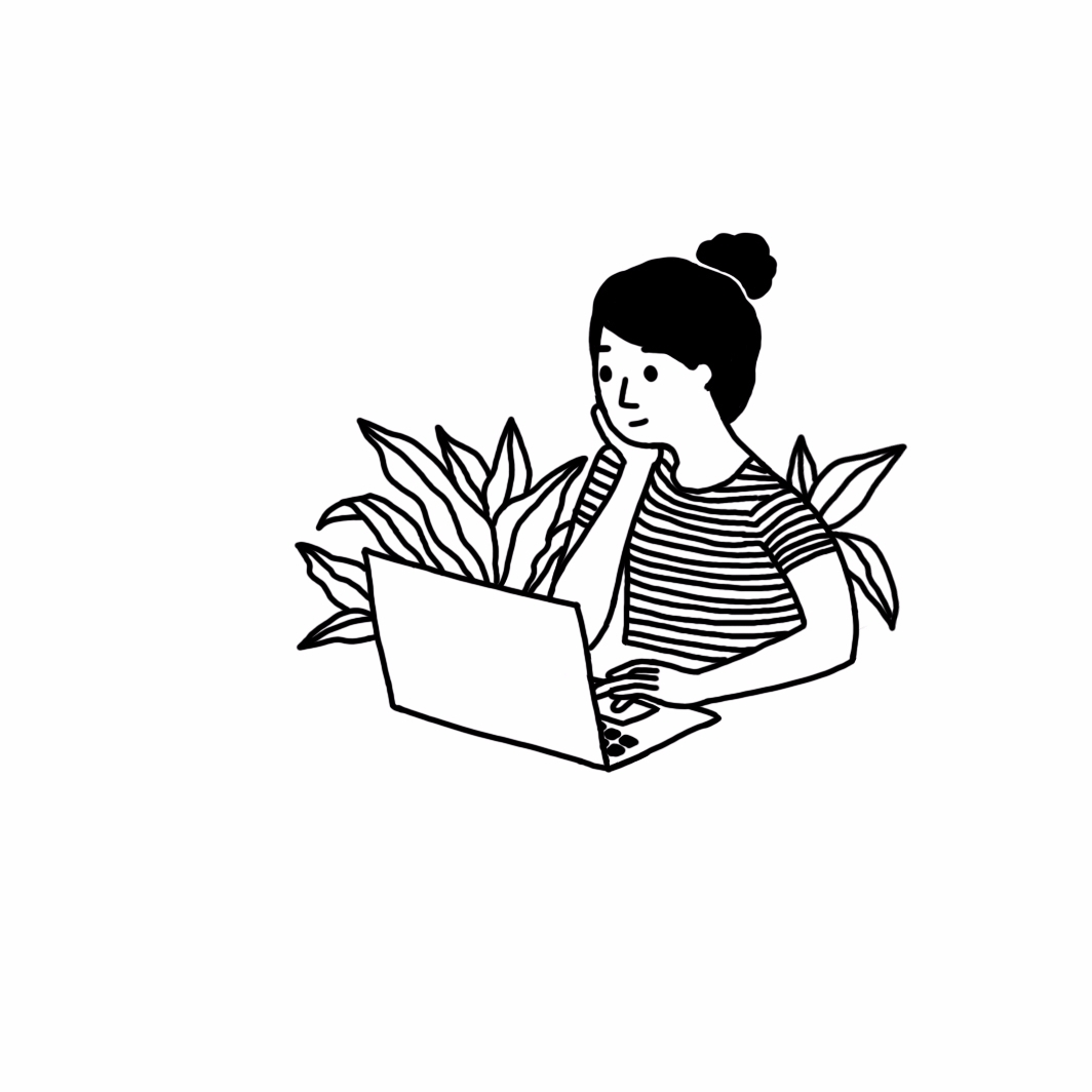 Working girl - illustration, linedrawing - ashleighgreen | ello