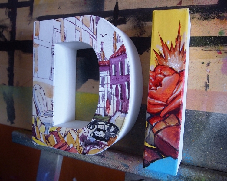 dixon studio / painting letters - mejuan | ello