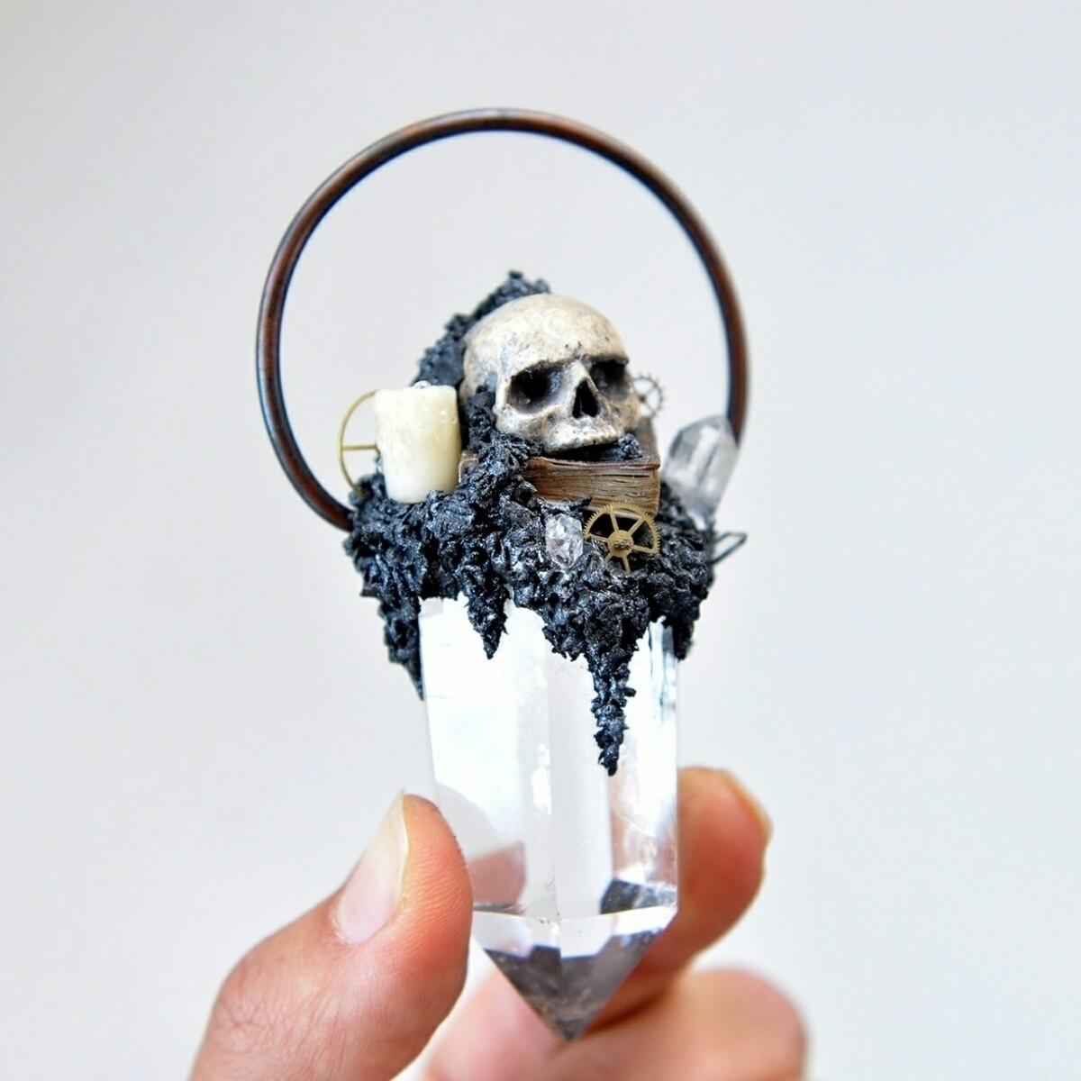 Hand Sculpted Realistic Skull S - gothicimaginations | ello