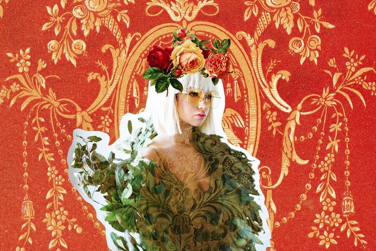 Wrapped Golden Leaves - digitalart - marissalindley | ello