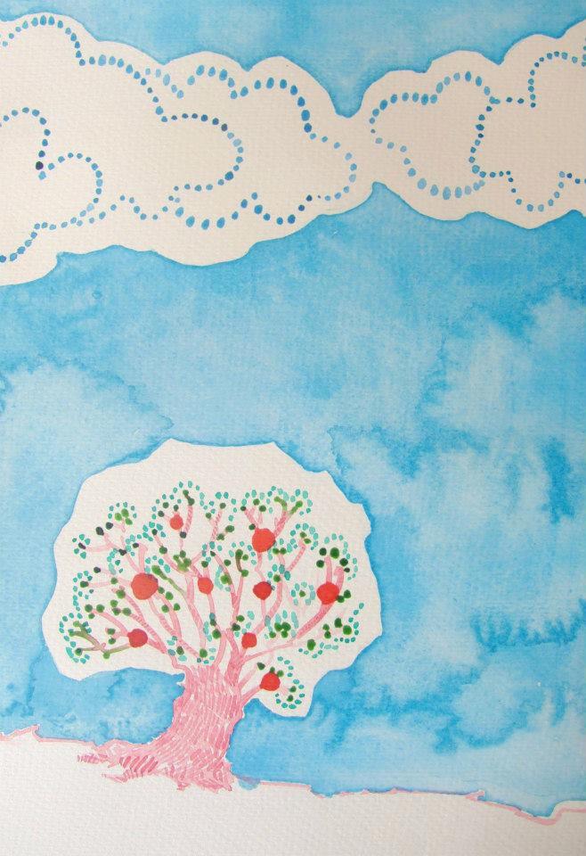 Ciel Bleu Céruléen Watercolour - euric | ello