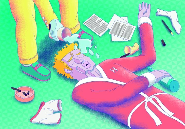 Illustration, Digital, Drunk - tomrouleau | ello