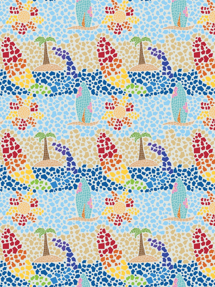 beach mosaic themed pattern cre - svaeth | ello