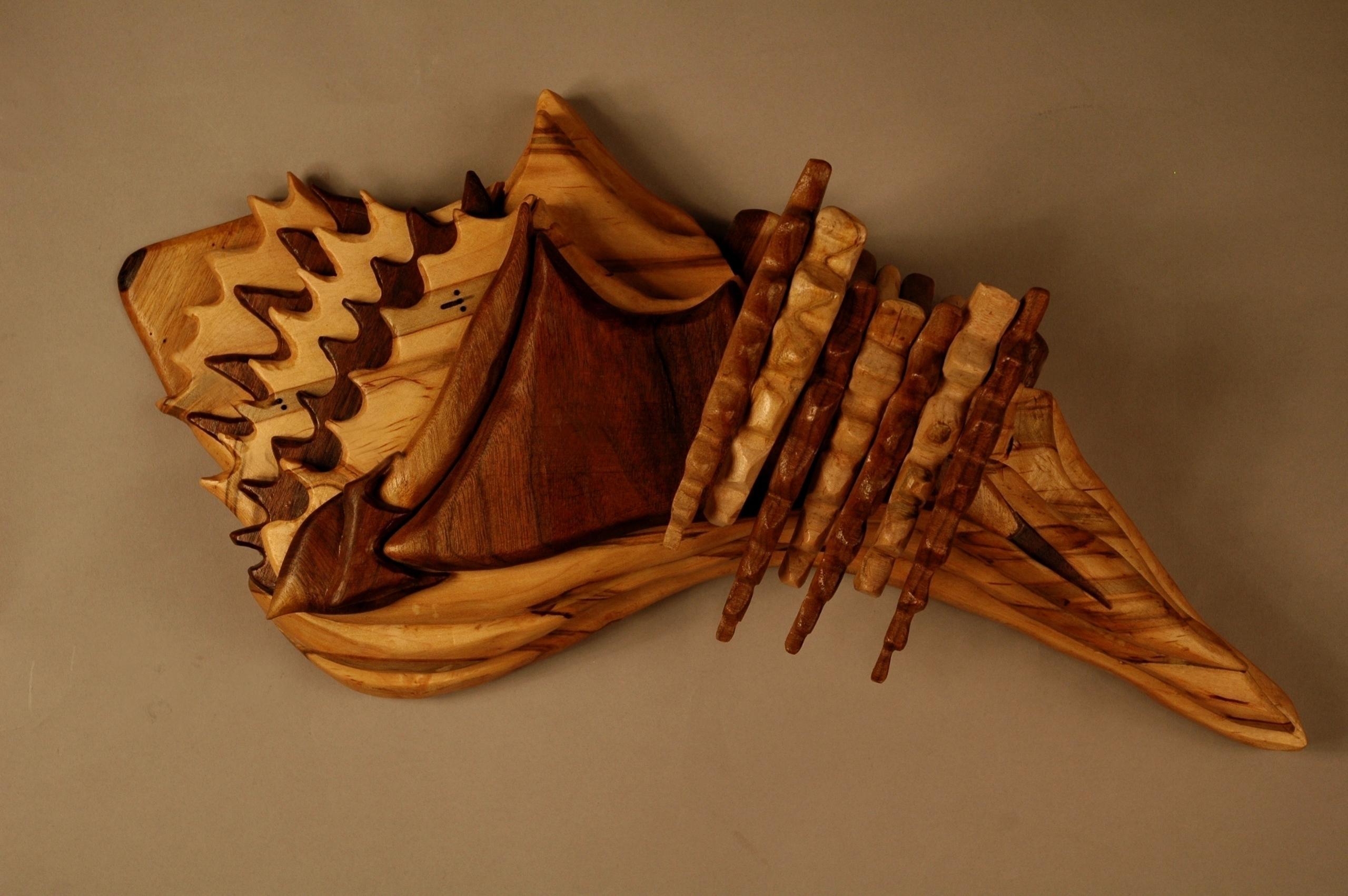 Conch Shell Wood piece inspired - artbykaylabraden | ello