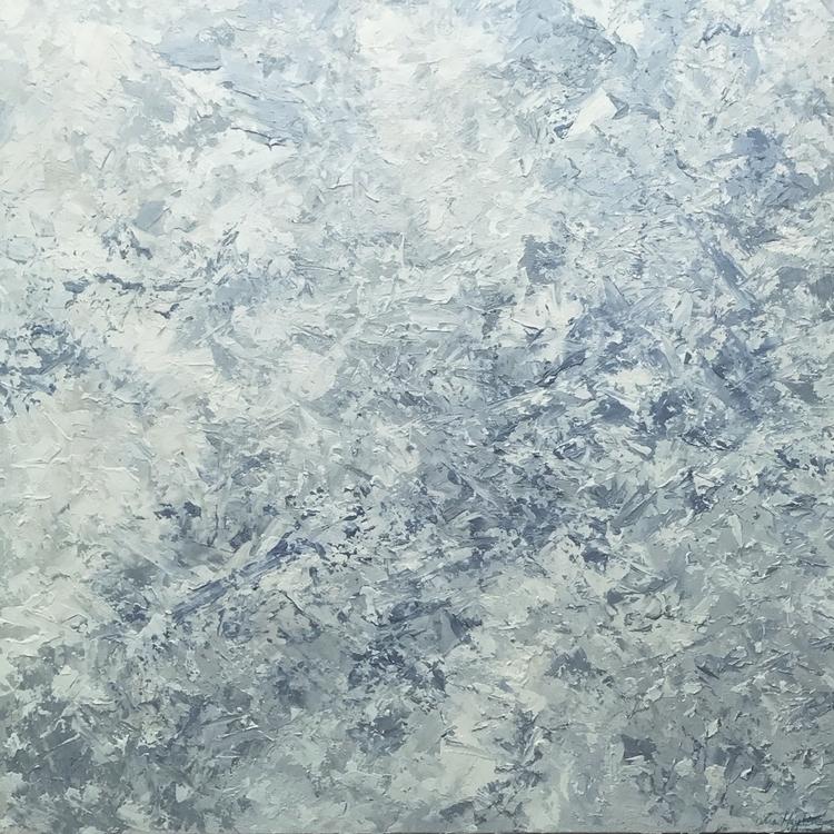 24x24 acrylics canvas texture.  - meltedtheory | ello