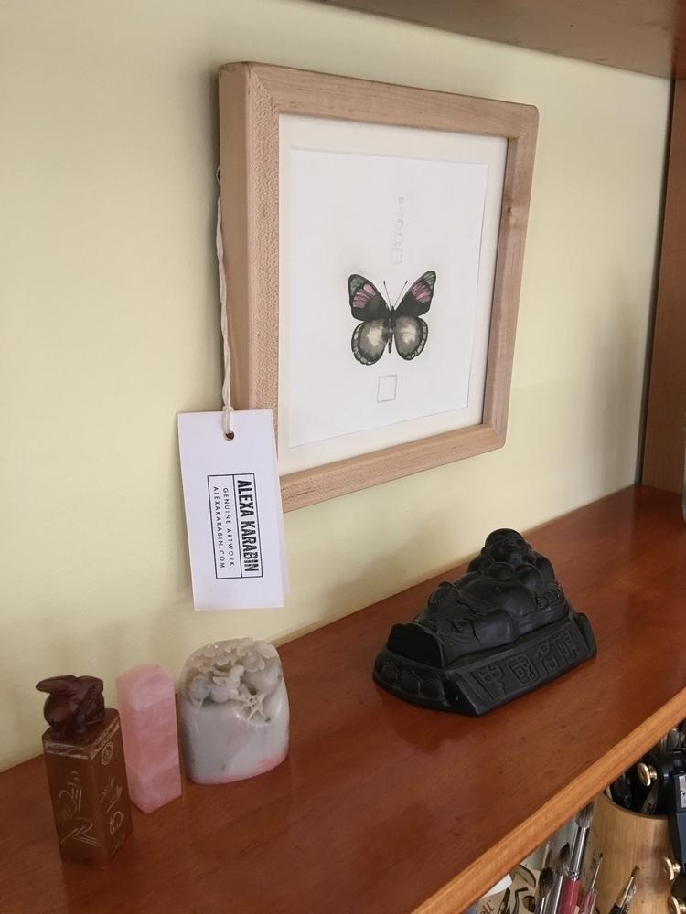 artwork, framedart, butterfly - alexakarabin | ello
