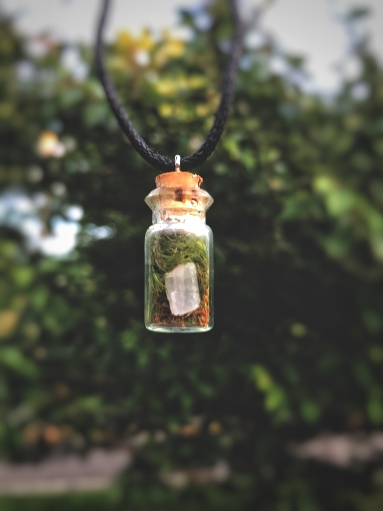 Mossy Mystic Bottle Necklace sm - thewoodsywitchh | ello