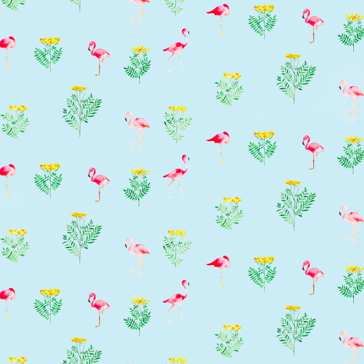 Flamingo - textile,, surfacedesign, - rizotto | ello