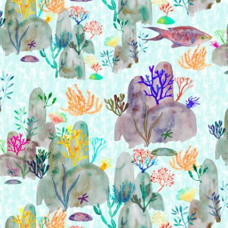sea - textile,, surfacedesign,, pattern, - rizotto | ello