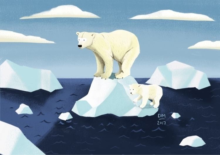 Polar bears - illustration - doodlesmarc | ello