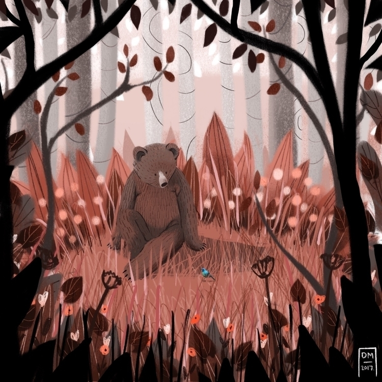 Brown bear - illustration - doodlesmarc | ello