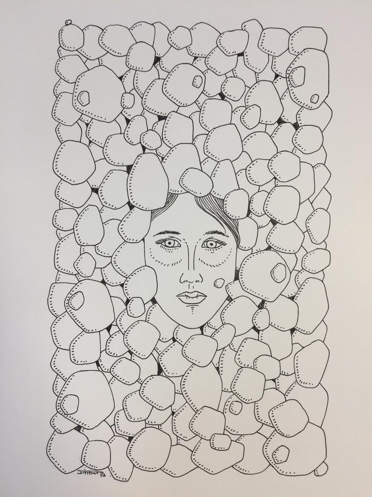 La femme aux pierres / woman st - jimmy-draws | ello