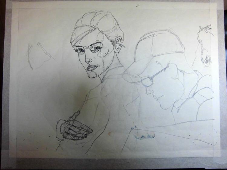 WIP - ink, calligraphy nib, pen - lcs-illustration | ello