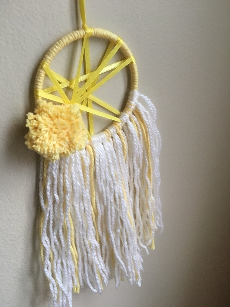 Yellow Pompom Dreamcatcher - uniqueedreamss - uniqueedreamss | ello