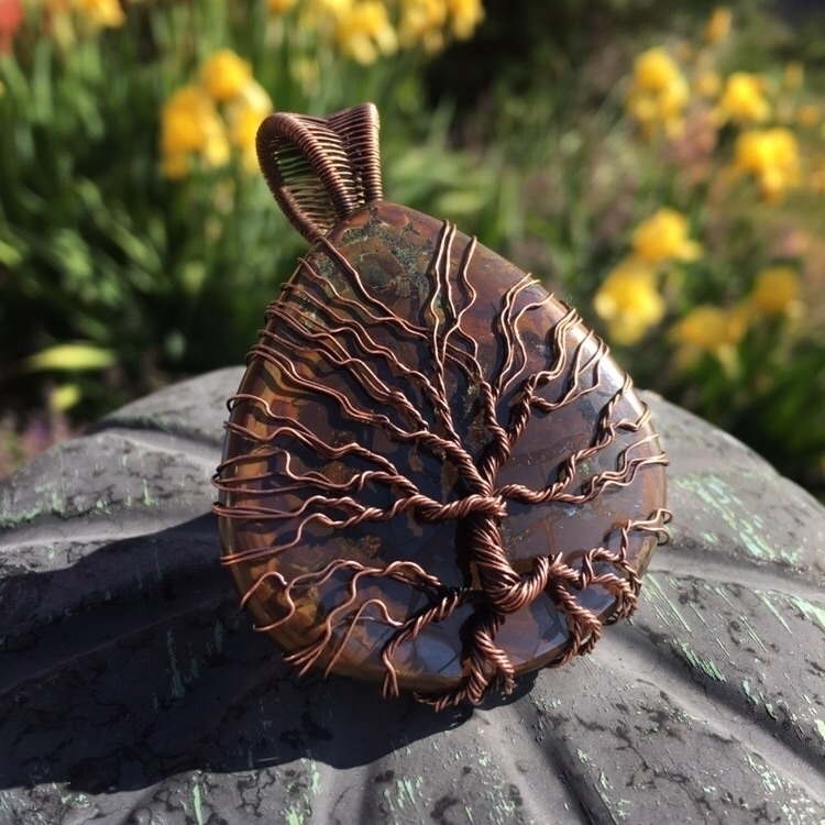 tree life covered large stone c - creationsbycass   ello