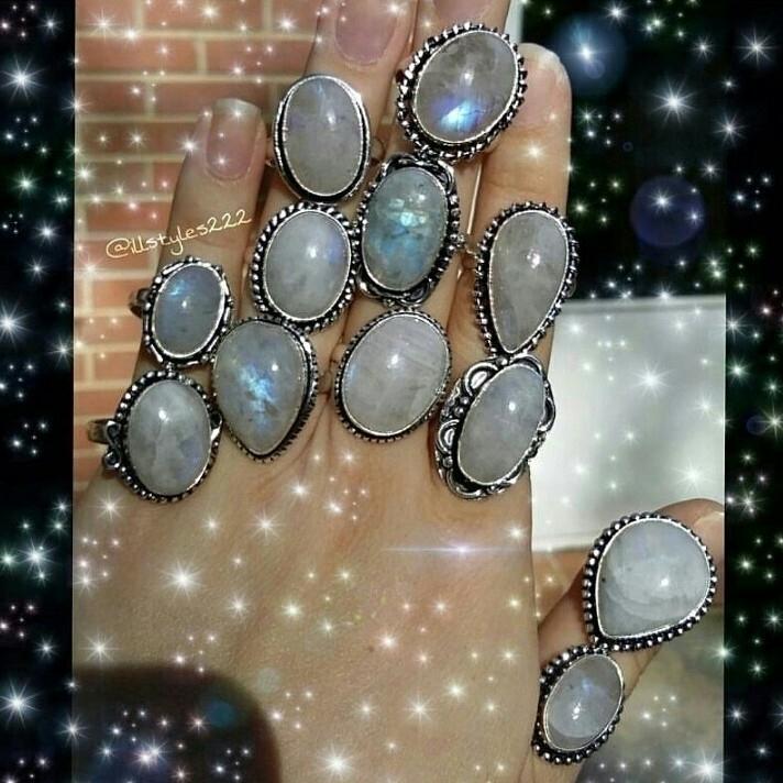 moonstone, rings, forsale, etsy:dizzy::star2::sparkles: - illstyles222 | ello
