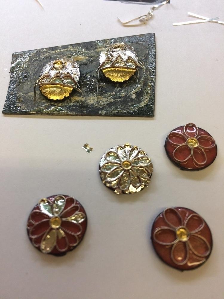 Laying foils bending wires toda - julieglassmanjewelry | ello